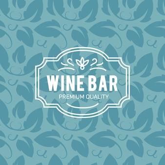 Fondo de letras vintage de copa de vino y uvas