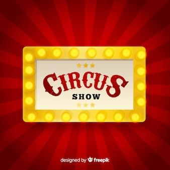 Fondo de letrero luminoso de circo vintage