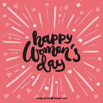 Fondo con lettering del día de la mujer