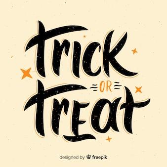 Fondo de lettering de halloween