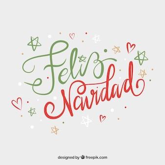 Fondo de lettering lindo de feliz navidad