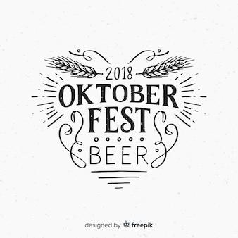 Fondo de lettering del oktoberfest