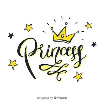 Fondo lettering princesa