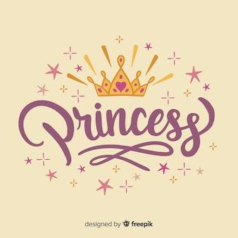 Fondo de lettering de princesa