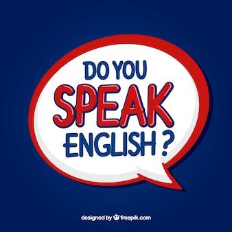 Fondo de lettering de usted habla inglés