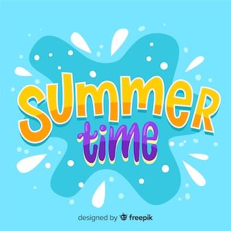 Fondo lettering verano