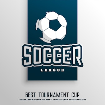 Fondo de liga de torneo de fútbol soccer