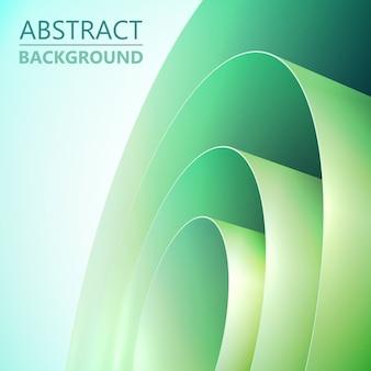 Fondo limpio claro abstracto con bobina de papel de embalaje enrollado verde