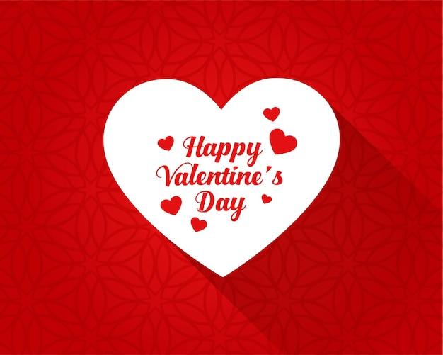 Fondo limpio feliz día de san valentín corazones