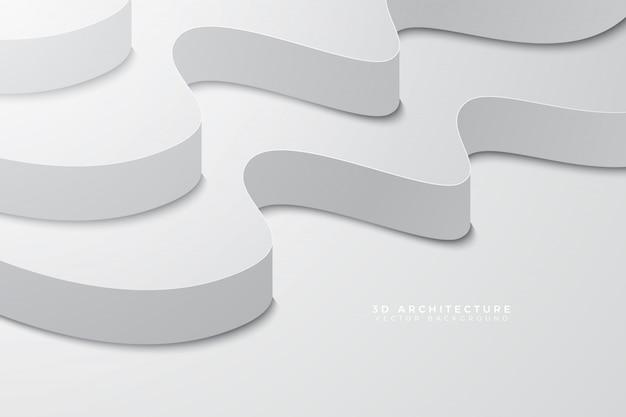 Fondo limpio de la luz de la arquitectura 3d