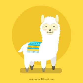 Fondo de linda alpaca