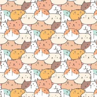 Fondo lindo del patrón de los gatos.