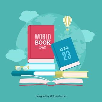 Fondo lindo para el día internacional del libro