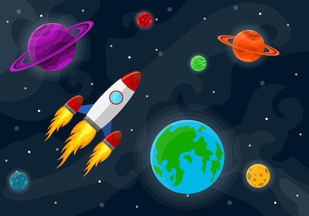 Fondo lindo espacio. ilustración