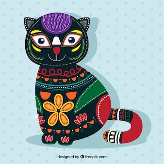 Fondo de lindo gato étnico