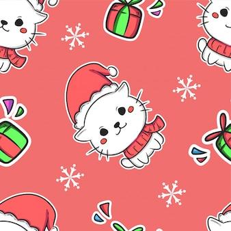 Fondo lindo navidad de patrones sin fisuras
