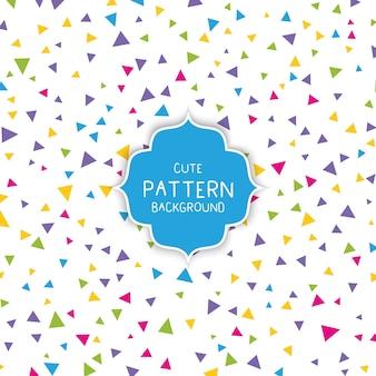 Fondo lindo patrón de triángulo