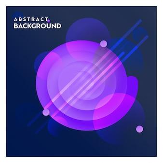 Fondo de línea abstracta con vector de fondo azul