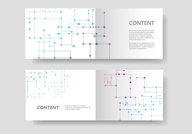 Fondo de línea de circuito, puntos y líneas conectados. diseño de banner abstracto