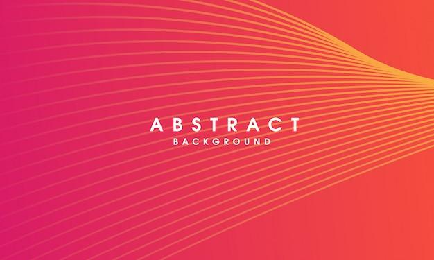 Fondo de línea colorida vector abstracto