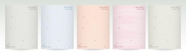 Fondo de línea geométrica abstracta con estilo diseño de color suave.