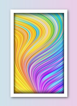 Fondo de línea de onda de arte abstracto rayas