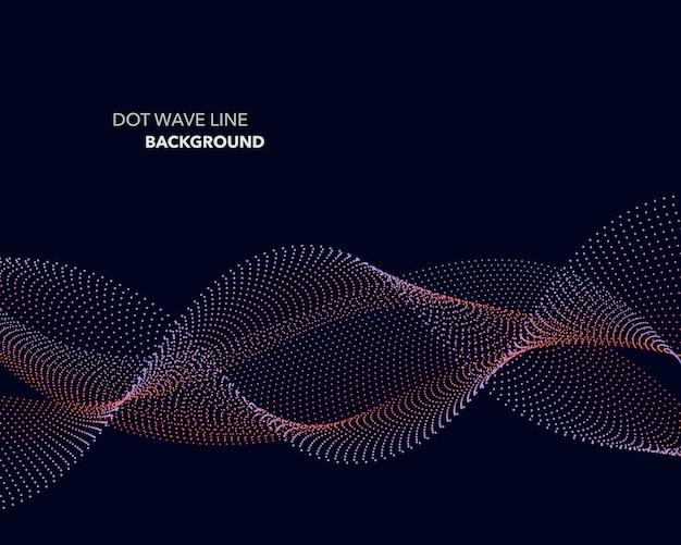 Fondo de línea de onda de punto abstracto.