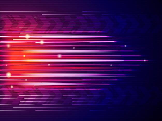 Fondo de línea de velocidad. líneas rápidas de coche de movimiento de formas digitales de colores abstractos.