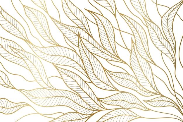 Fondo lineal dorado degradado