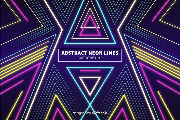Fondo líneas abstractas coloridas de neón