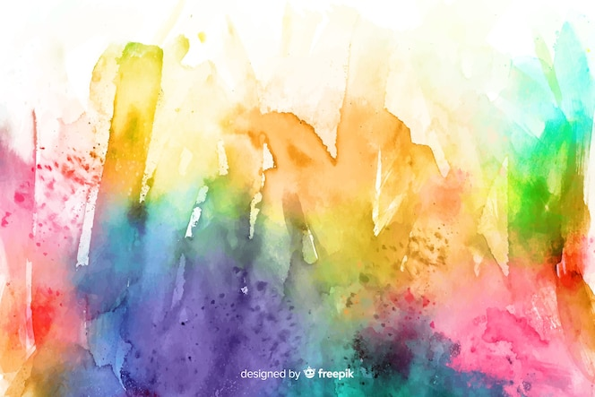 Fondo de líneas abstractas dibujadas a mano del arco iris