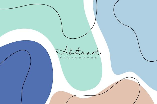 Fondo de líneas abstractas de estilo plano