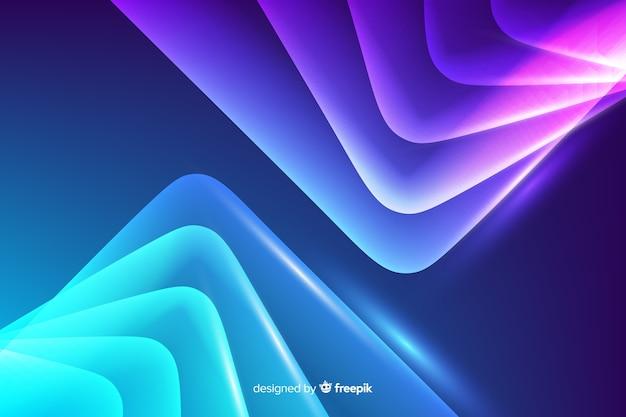 Fondo líneas abstractas de neón