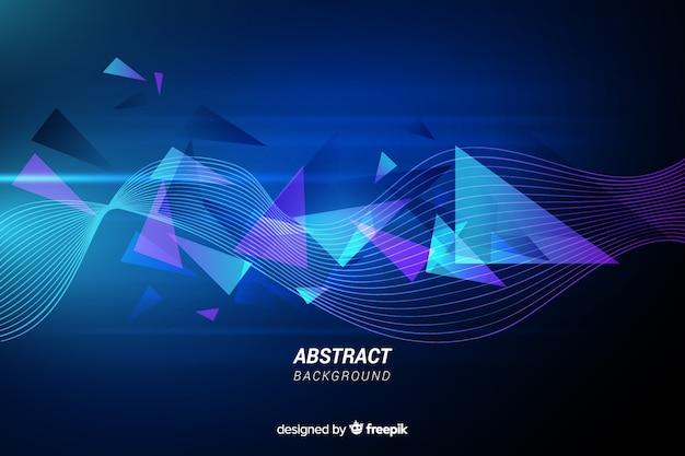 Fondo de líneas abstractas con triángulos