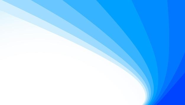 Fondo de líneas azules curva suave