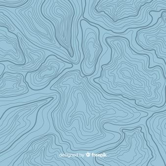 Fondo de líneas azules topográficas de vista superior