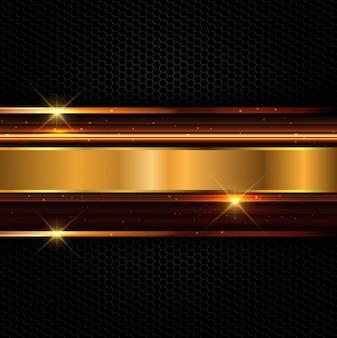 Fondo con líneas brillantes doradas