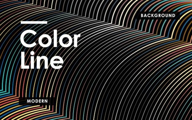 Fondo de líneas de color abstracto