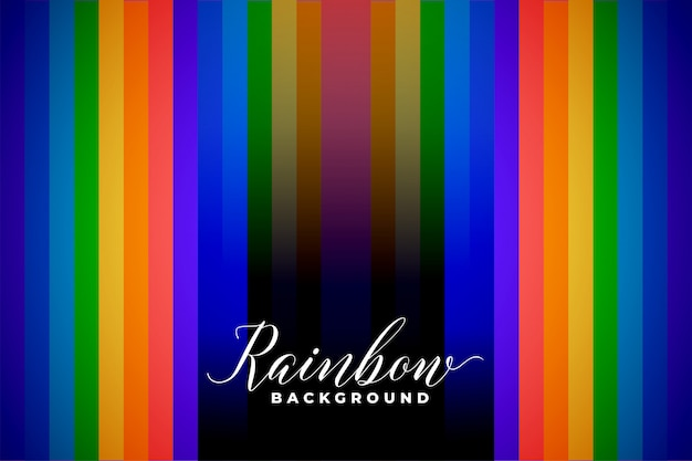 Fondo de líneas de color de arco iris abstracto