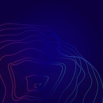 Fondo de líneas de contorno de mapa abstracto azul y rosa