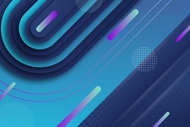Fondo de líneas dinámicas geométricas de estilo de papel