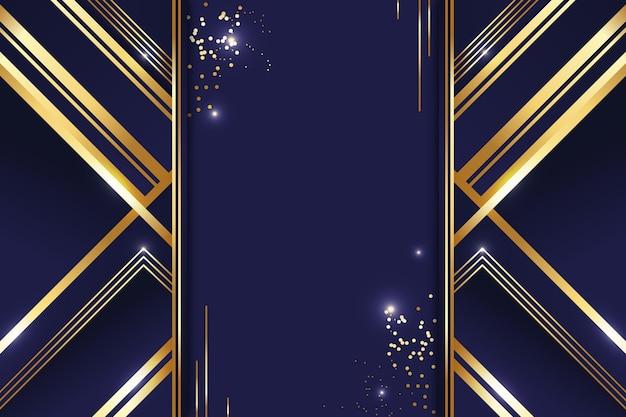 Fondo de líneas doradas de lujo degradado