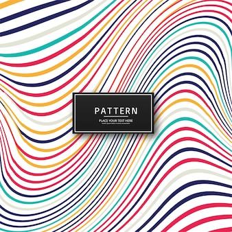 Fondo de líneas con estilo colorido abstracto