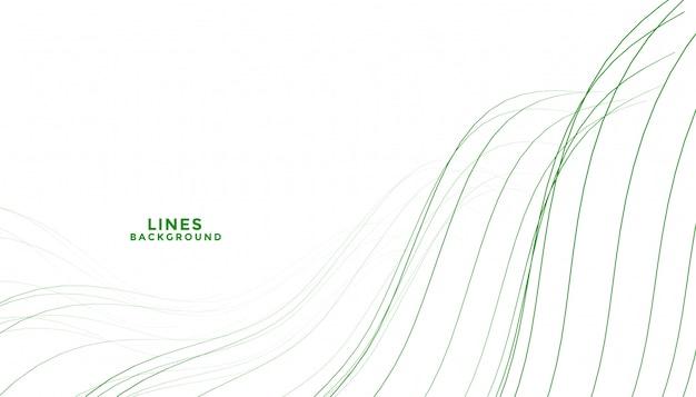 Fondo de líneas fluidas elegante abstracto verde forma