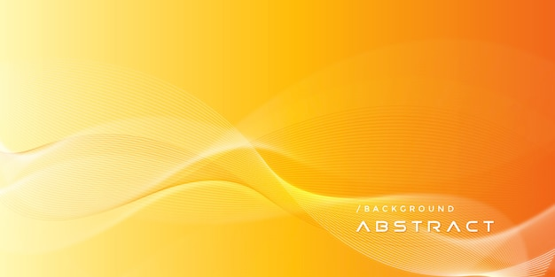 Fondo de líneas de gradiente moderno naranja abstracto