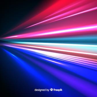 Fondo con lineas luminosas de velocidad