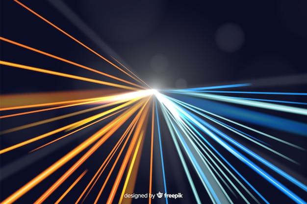 Fondo con líneas luminosas