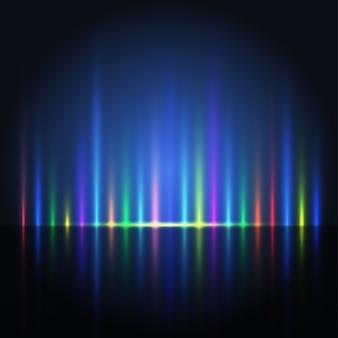Fondo de líneas de luz de color abstracto