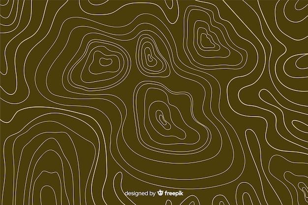 Fondo de líneas marrones topográficas