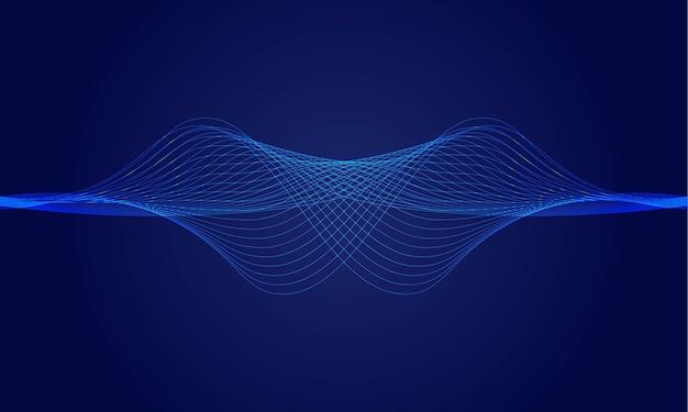 Fondo de líneas de onda dinámica abstracta